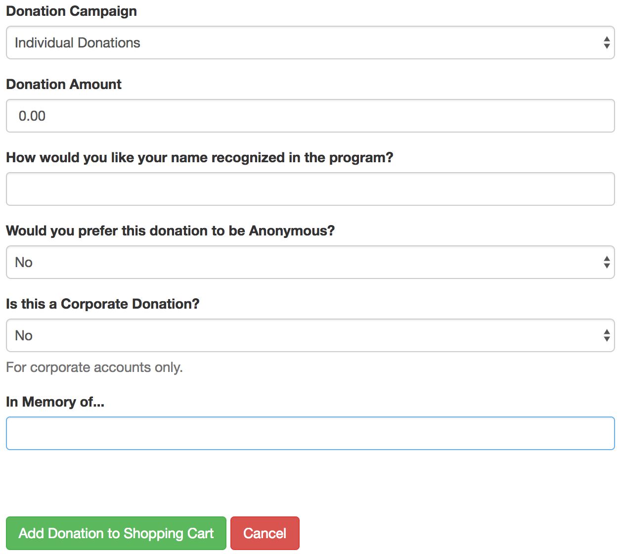 Adding Donation Field