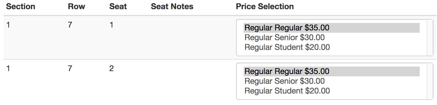 Adding Price Drop Down