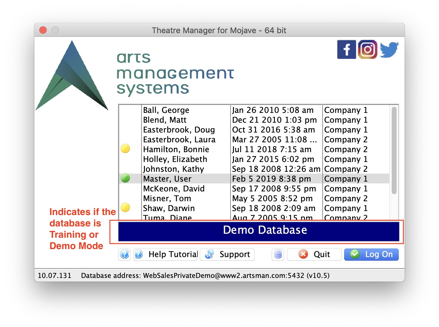 Theatre Manager Online Help