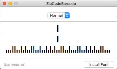 Missing Zip Code or USPSIMBStanda Font | Arts Management Systems
