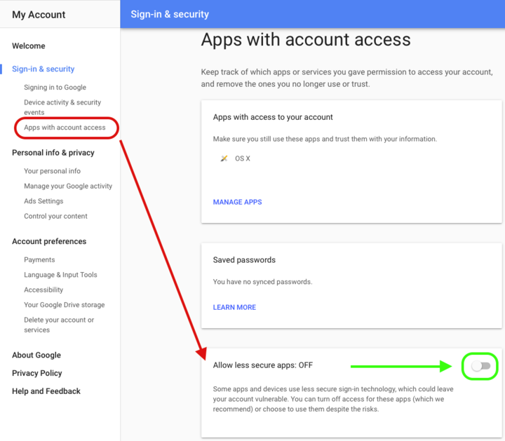 Gmail wont send due to Bad Password with Gmail SMTP Settings