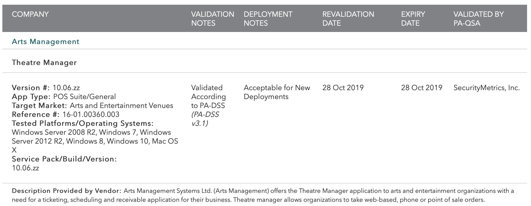 Installing Theatre Manager
