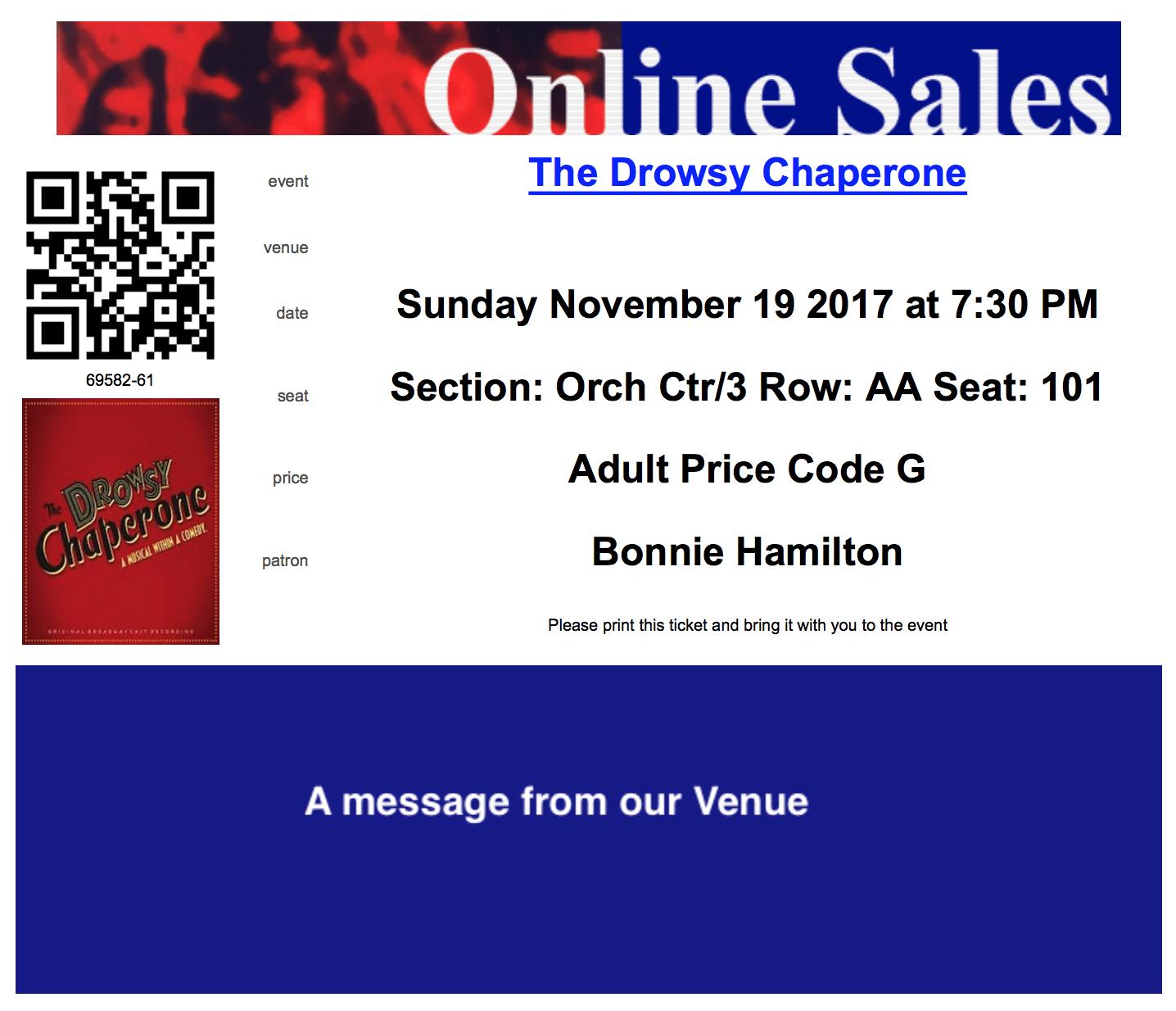 Sample PDF Ticket