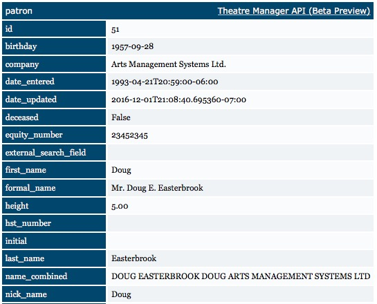 REST API Accessing a Specific Record using ID   Arts Management Systems