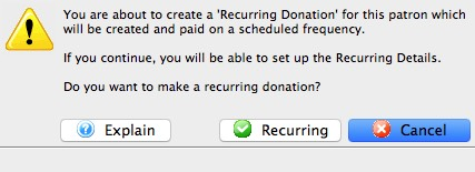 Recurring Donations Create From Existing Gift