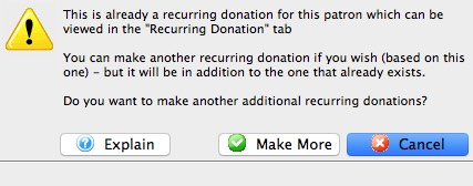 Recurring Donations Create From Existing Gift Already Exists