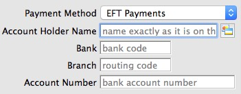 Recurring Donation Payment Method EFT