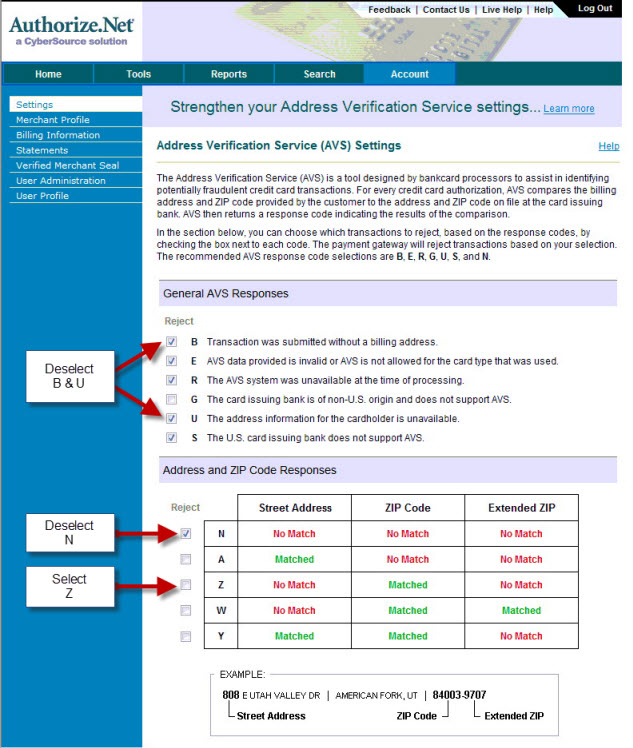 how to set up an authorize net account