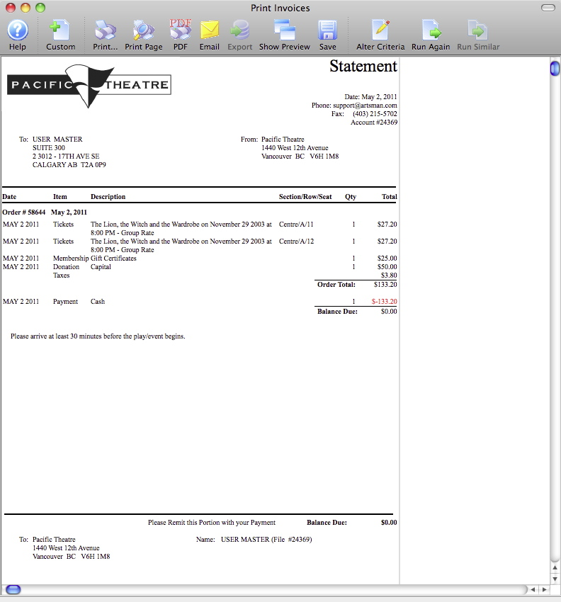 Generate The Invoice.  How To Print Invoices
