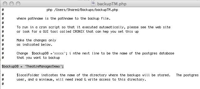 Macintosh PostgreSQL Server