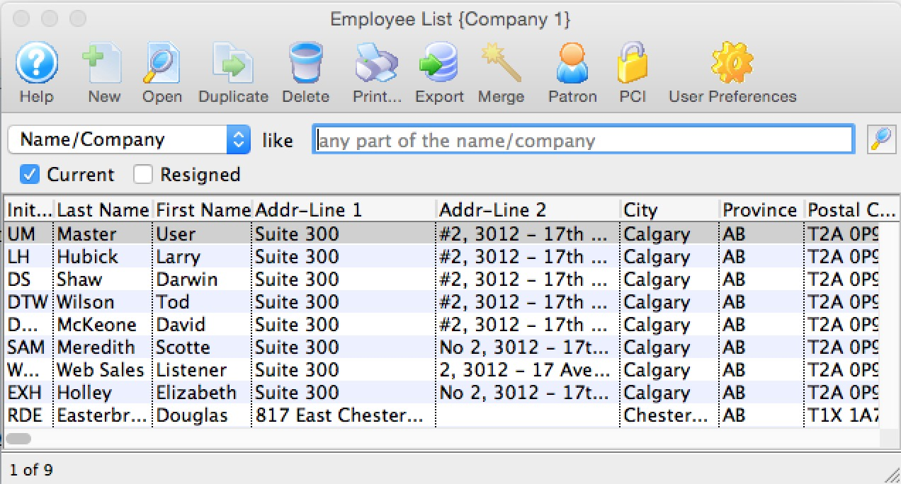 Employee List Arts Management Systems