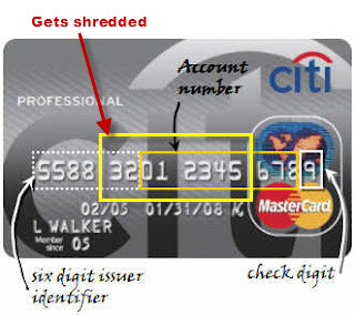 card number on credit card