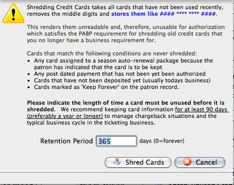 Pci security tab a dialogue opens asking for a retention period during which cards are considered active and therefore not unused we recommend at least 90 days reheart Gallery